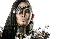 Uomo cyber Fotografia Stock