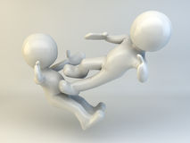 uomo 3D Immagini Stock