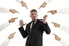 Uomo d'affari accusato Immagini Stock Libere da Diritti