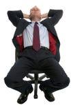 Uomo d'affari addormentato. Fotografia Stock Libera da Diritti