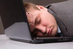 Uomo d'affari addormentato fotografia stock
