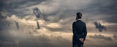 Uomo d'affari Affare, ufficio e concetto finanziario Fotografia Stock