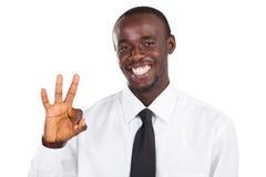 Uomo d'affari africano Immagini Stock