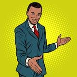 Uomo d'affari africano che agita le mani illustrazione di stock
