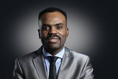 Uomo d'affari Afro American felice Fotografie Stock Libere da Diritti