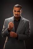 Uomo d'affari afroamericano Immagine Stock Libera da Diritti