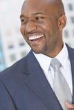Uomo d'affari afroamericano felice Immagine Stock