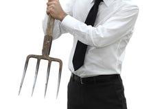 Uomo d'affari aggressivo ed arrabbiato immagini stock libere da diritti