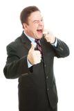 Uomo d'affari - alito fresco immagine stock libera da diritti