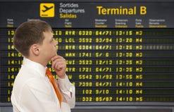 Uomo d'affari all'aeroporto Immagine Stock Libera da Diritti