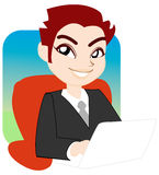 Uomo d'affari all'ufficio Immagine Stock