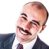Uomo d'affari allegro Fotografia Stock