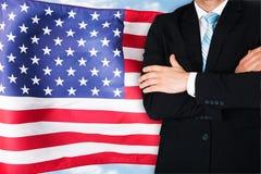 Uomo d'affari americano fotografia stock libera da diritti