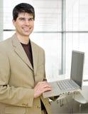 Uomo d'affari amichevole Fotografia Stock