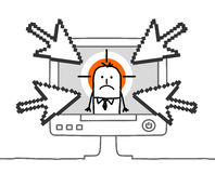 Uomo d'affari & cyberbullying Immagine Stock
