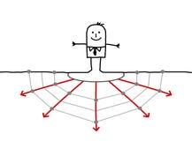 Uomo d'affari & Web Immagini Stock Libere da Diritti