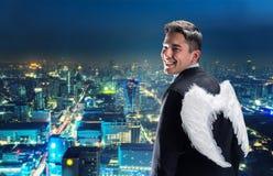 Uomo d'affari-angelo fotografie stock