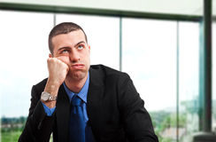 Uomo d'affari annoiato Fotografia Stock