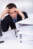 Uomo d'affari annoiato Immagine Stock