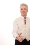 Uomo d'affari anziano felice Immagini Stock