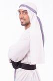 Uomo d'affari arabo isolato Fotografie Stock Libere da Diritti