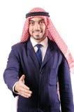 Uomo d'affari arabo isolato Fotografia Stock Libera da Diritti