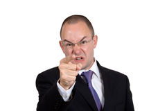 Uomo d'affari arrabbiato Immagini Stock