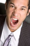 Uomo d'affari arrabbiato Fotografia Stock