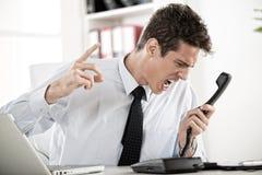 Uomo d'affari arrabbiato Immagine Stock Libera da Diritti