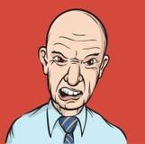 Uomo d'affari arrabbiato illustrazione vettoriale