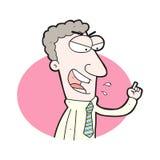 uomo d'affari arrabbiato del fumetto Immagini Stock