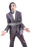 Uomo d'affari arrestato Fotografia Stock Libera da Diritti