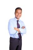 Uomo d'affari asiatico in camicia blu Fotografie Stock