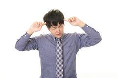 Uomo d'affari asiatico difficile Fotografia Stock