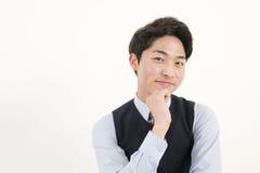 Uomo d'affari asiatico felice Immagine Stock