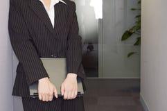 Uomo d'affari asiatico femminile fotografia stock
