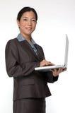 Uomo d'affari asiatico femminile Fotografia Stock Libera da Diritti