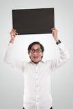 Uomo d'affari asiatico Holding Blackboard Immagini Stock Libere da Diritti