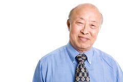 Uomo d'affari asiatico maggiore fotografie stock