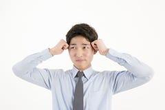 Uomo d'affari asiatico sollecitato Immagine Stock Libera da Diritti