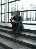 Uomo d'affari attendente Fotografie Stock Libere da Diritti