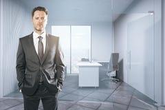 Uomo d'affari attraente in ufficio Fotografia Stock Libera da Diritti