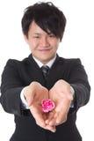 Uomo d'affari attuale e giovane Fotografie Stock