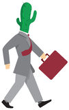 Uomo d'affari avido che cammina da solo Immagine Stock
