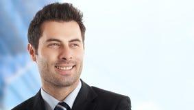 Uomo d'affari bello Fotografia Stock