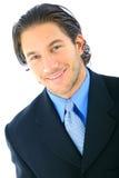Uomo d'affari bello di sorriso fotografia stock libera da diritti
