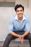 Uomo d'affari bello e giovane del professionista del latino Immagini Stock Libere da Diritti