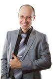 Uomo d'affari bello sorridente. Fotografia Stock