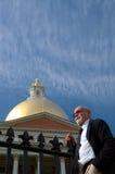 Uomo d'affari a Boston immagini stock libere da diritti