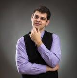 Uomo d'affari calmo Fotografia Stock Libera da Diritti
